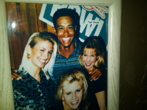 Tiger Woods frattin' off the charts at Hooters circa 1996.