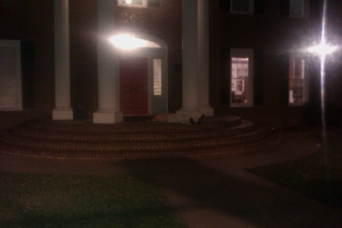 He almost made it inside. TFM.