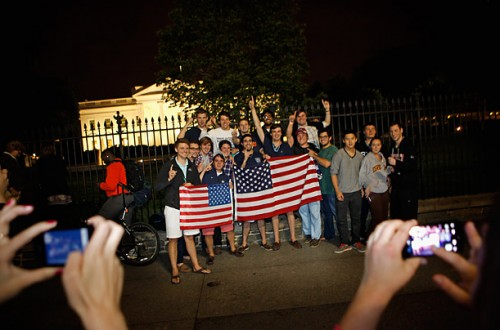 Being the first outside the White House with our American Flags after hearing that we got Bin-Laden.