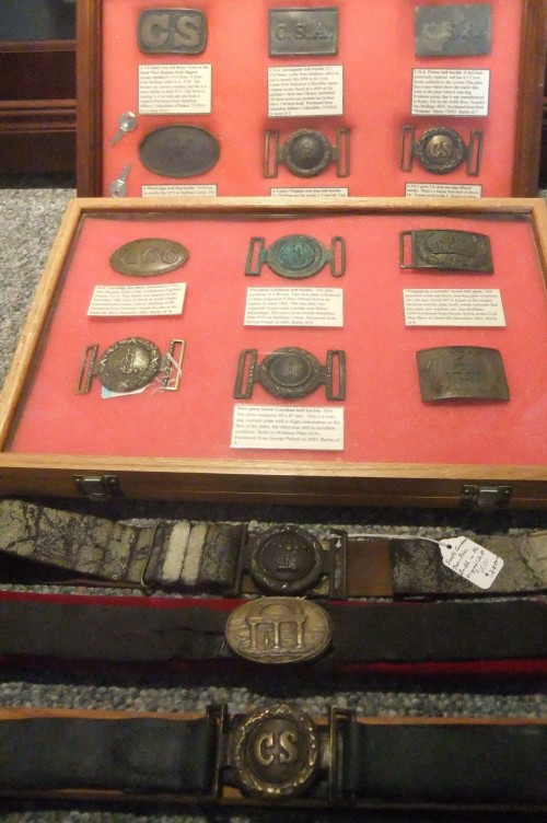 Authentic Confederate belt buckle collections. TFM.