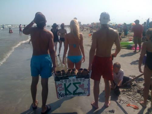 Frattin at the beach.