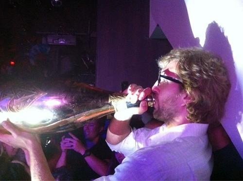 The German showing Miami how to drink $80,000 worth of champagne. TFM.