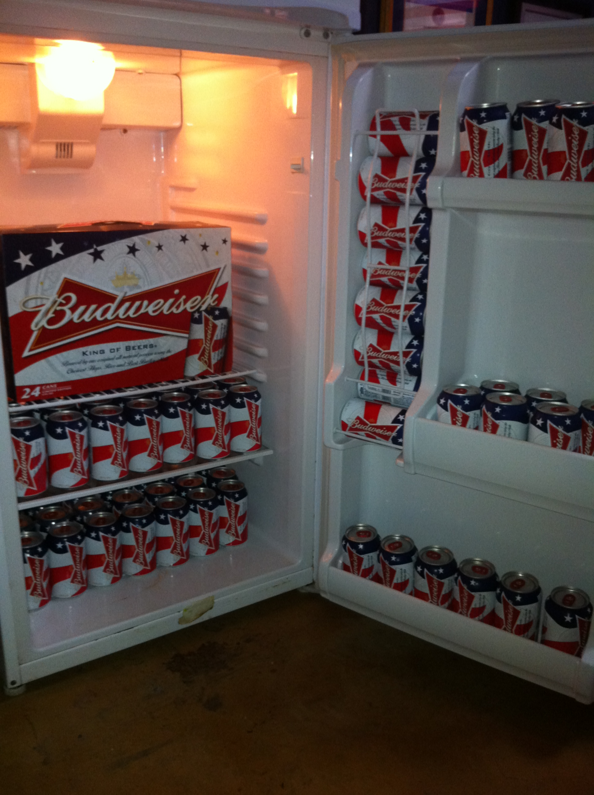 Had to get the fridge ready for D-Day. TFM.