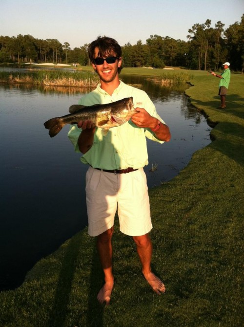Fishing and playing golf at the #1 ranked course in Texas, Whispering Pines. TFM.