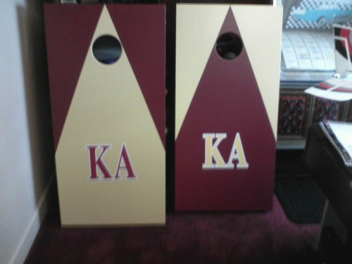 New cornhole set for rush