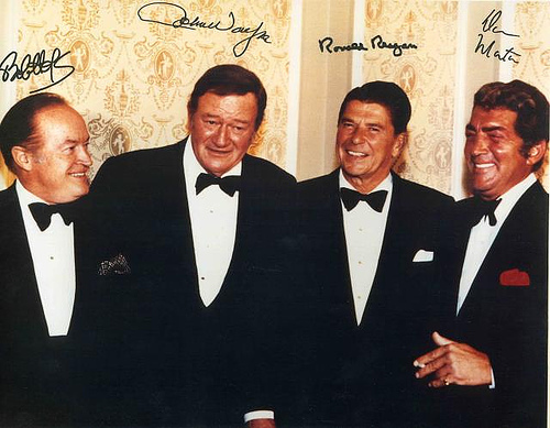 The frattest picture ever taken, Ronald Reagan and John Wayne. TFM.