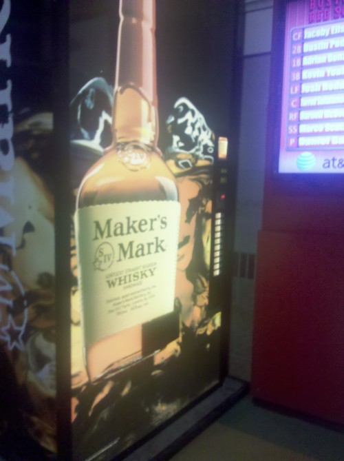 Maker's Mark vending machine at Minute Maid Park. TFM.