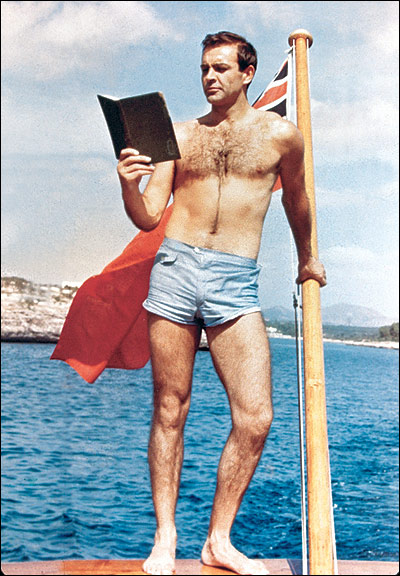 Connery says no to boardshorts and manscaping. TFM.