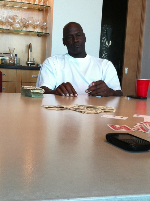 Playing poker with 23 at his house in Vegas. TFM.