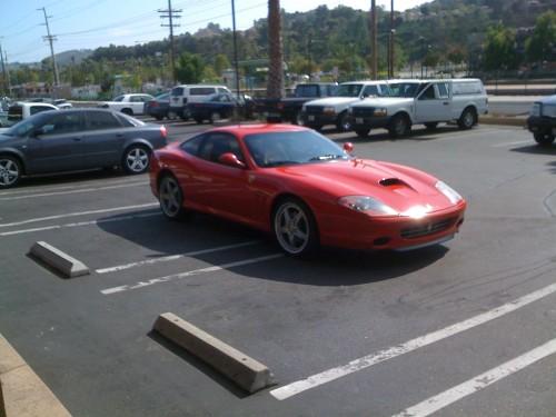 Double parking the Ferrari. TFTC.