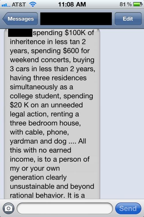 Dad's pissed. TFTC.