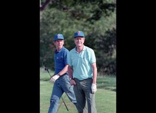 W. wearing jeans on the course in the 80s. TFTC.