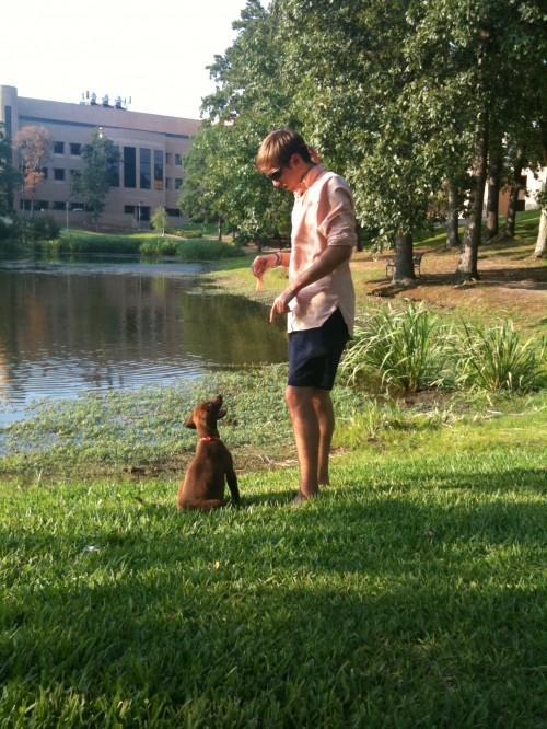 Frat-hound in training.