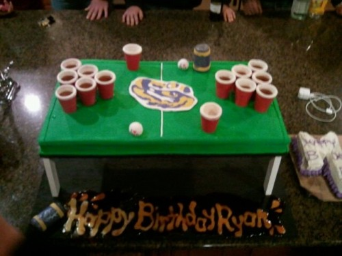 Birthday cake with birthday shots. TFM.