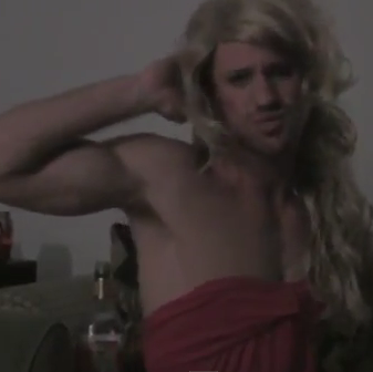 Disturbed Cross-Dresser Does Sorority Girl Impression
