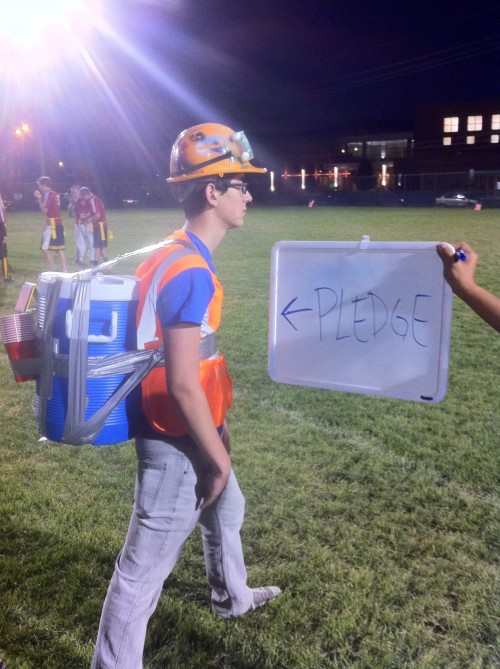 Waterboy pledge for intramural flag football.