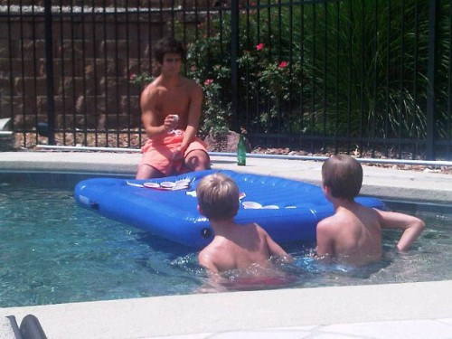 Training his cousins to be future fratstars. TFM.
