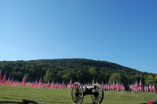 Kennesaw Mountain Battlefield flies a flag for every person we lost 10 years ago. TFM.