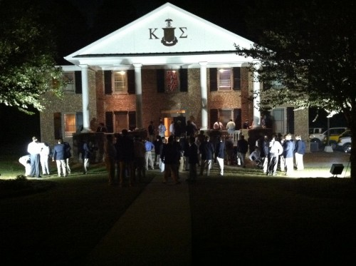 Post rush cigars with the brothers on the front lawn. TFM.