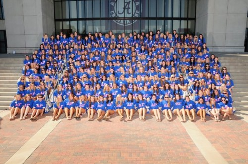 Proud to welcome 224 new women into our amazing sisterhood! Roll Tide!