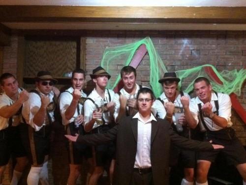 Beerfest German team and Grandpapa.