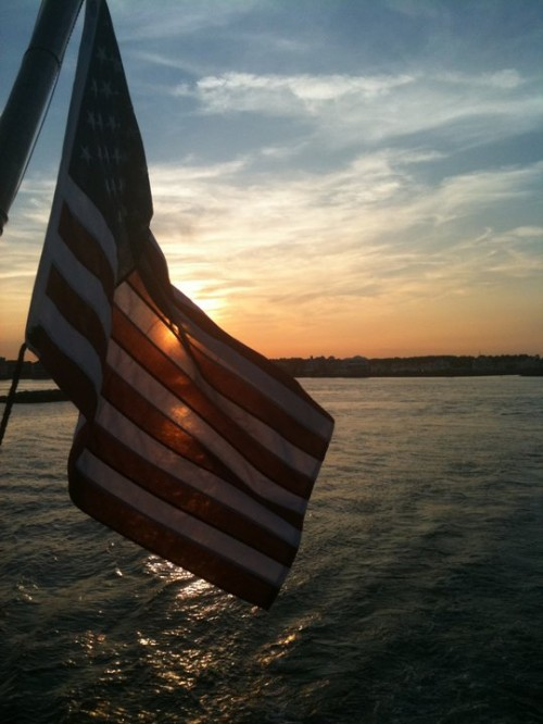View from the boat. 'Merica!