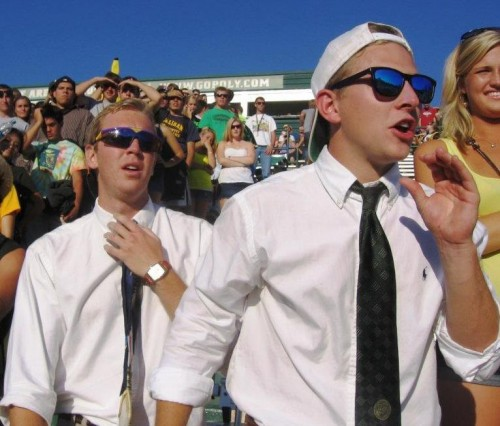 Blacked out and obnoxious. TFM.