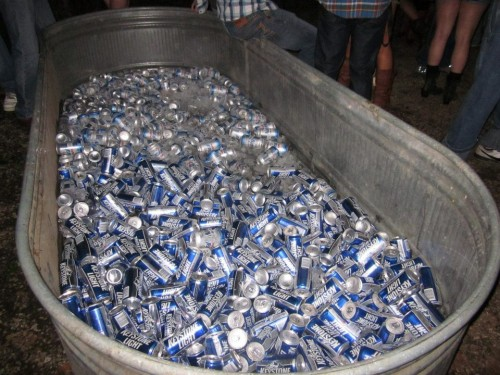 Barndance beer trough.