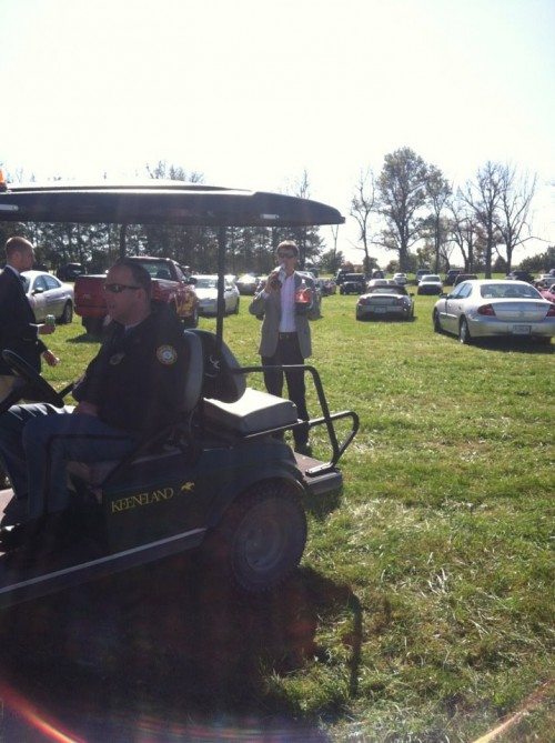 Showing Keeneland police he doesn't care. TFTC.