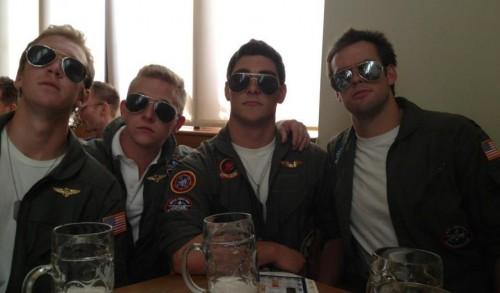 Goose, Iceman, Maverick, and Slider.