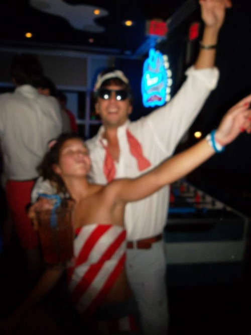 Partying for America.