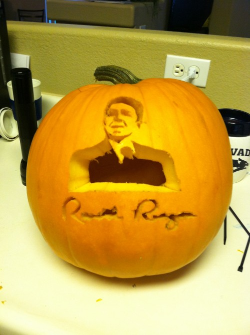 Ronald Reagan won me a pumpkin contest.