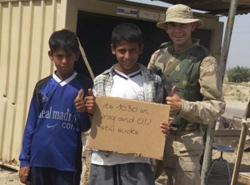 TX/OU weekend in Iraq. TFM.