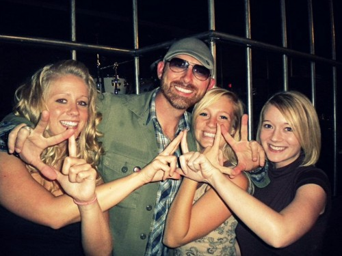 Kappa Delta loves Corey Smith! (Even if he got our sign a little backwards)