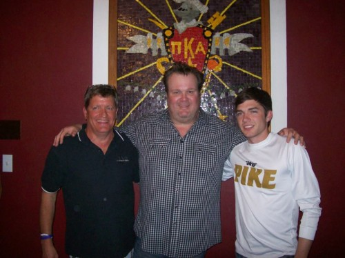 Hanging out with Eric Stonestreet of Modern Family in the house once lived in. TFM.