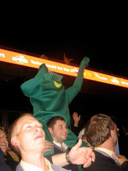 Even Gumby watches Clemson lose.