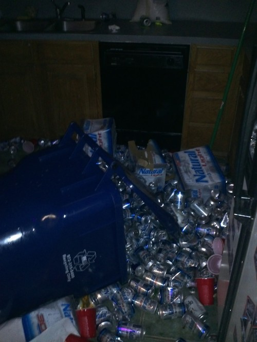 As house manager I started fining brothers who kick down doors. They started kicking over trashcans.