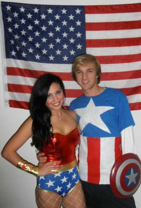Wonder Woman and Captain America.
