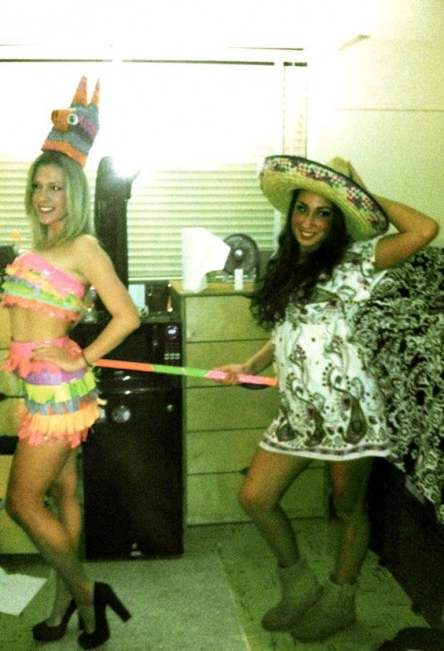 Don't let her whack the piñata too hard!