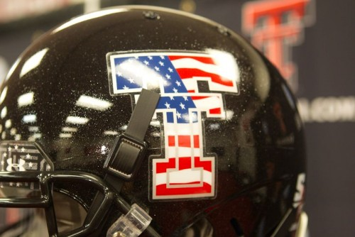 Texas Tech helmets for next week's game for the Wounded Warrior Project.