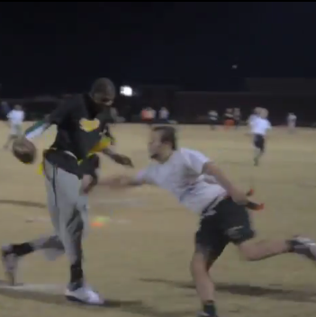 Kevin Durant Plays Flag Football For Sigma Nu at Oklahoma State