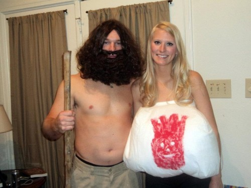 Tom Hanks and Wilson from Castaway.