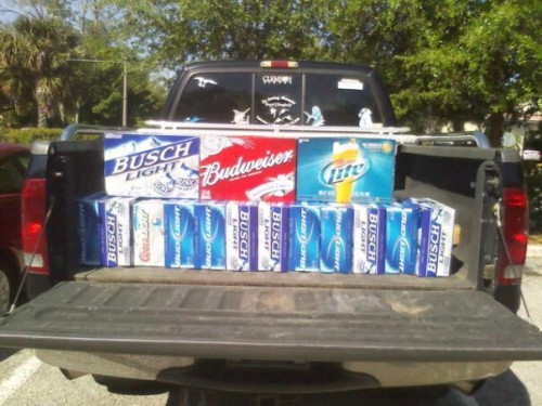 Typical load up for four days in the Bahamas.