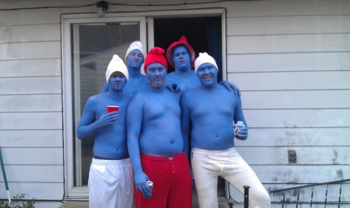 The Smurfs are too blue to care.
