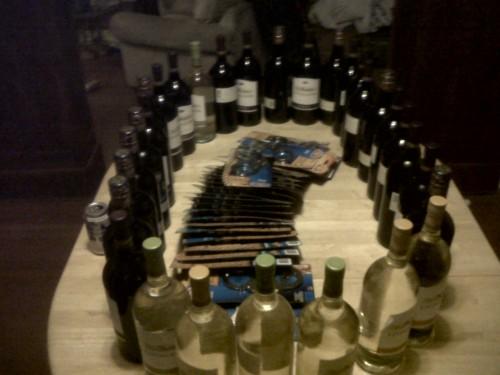 Halloween? Wine and handcuffs. TFM.
