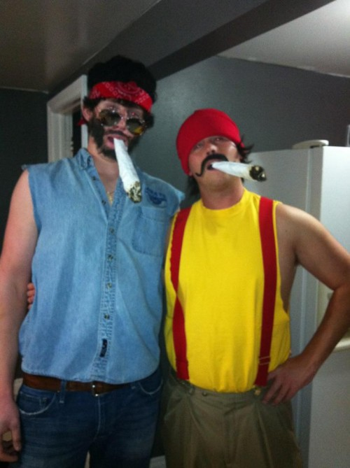 Cheech and Chong smoke big.