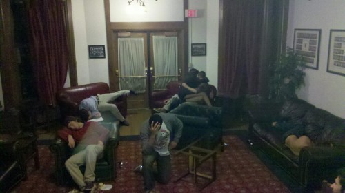 Tebowing after Tits & Turkey. TFM.
