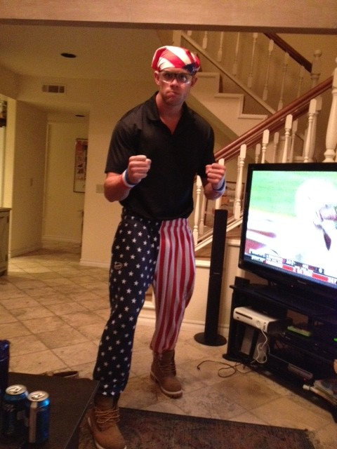 Take a look at what I'm wearing, people. You think anybody wants a roundhouse kick to the face while I'm wearing these bad boys?