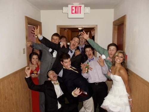 Raging in the hallway after formal. TFM.