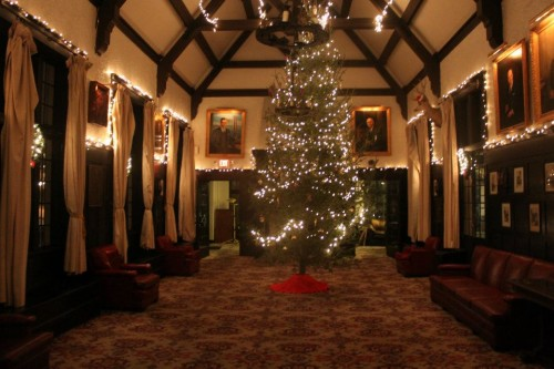 Christmas in the Chapter House Lodge.